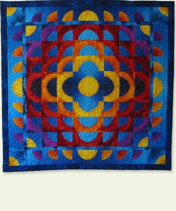 Ranae Merrill Quilt Merced Sunset Quilts Drunkards Path