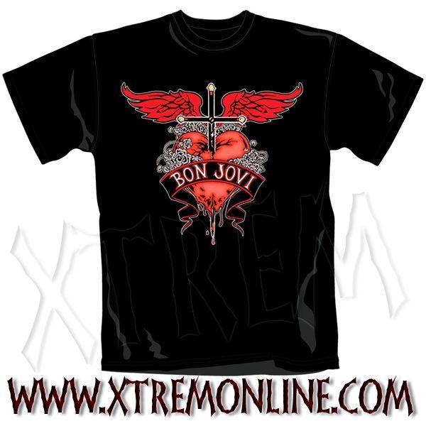 882e6bfe0 ¡Echa un vistazo a nuestro merchandising de Bon Jovi! Todo en Stock.  Envíos. Band T ShirtsBand MerchHeavy RockHeavy MetalRock ...