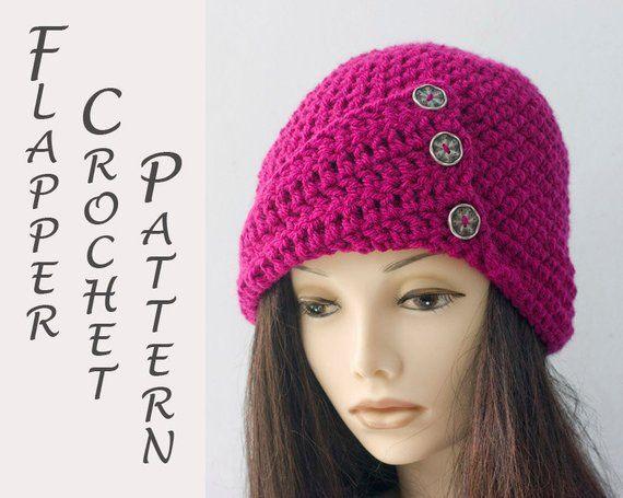 1920s Flapper Hat Crochet Pattern Crochet Cloche Hat Pattern