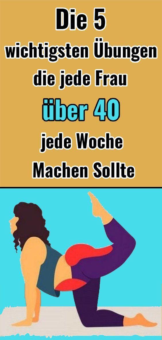 Die 5 wichtigsten Übungen, die jede Frau über 40 jede Woche machen sollte - Yoga fitness - #Die #fit...
