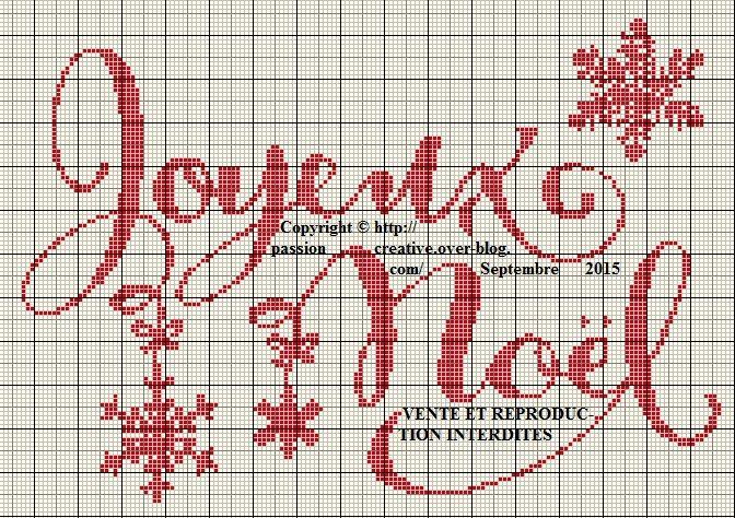 Grille gratuite point de croix : Joyeux Noel et Flocons   Broderie de noël, Point de croix noel ...