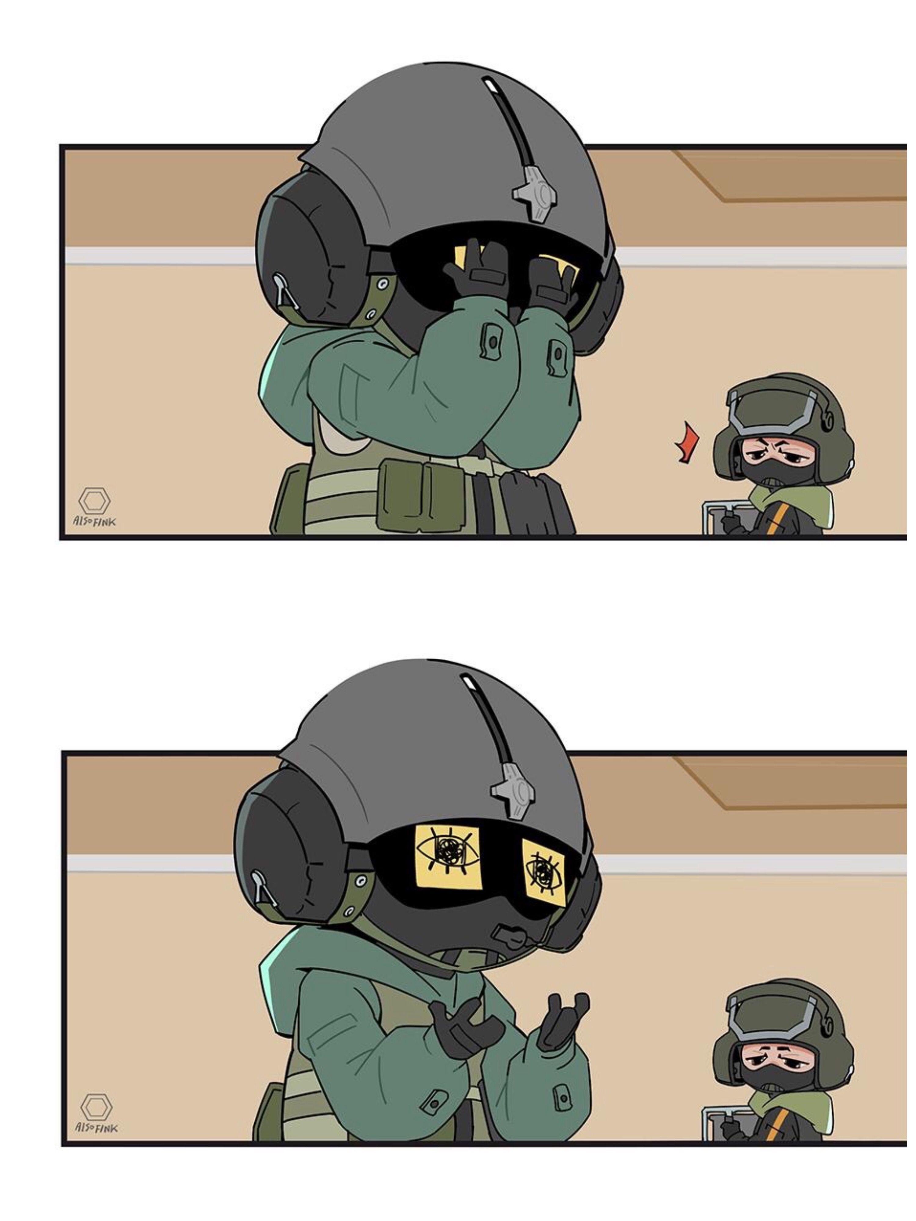 Credit To Original Artist Rainbow Six Siege Memes Rainbow Six Siege Anime Rainbow Six Siege Art