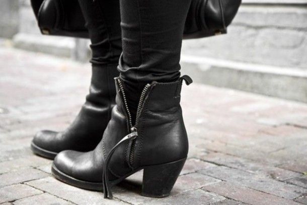 Ankle Boots Leather Black | FP Boots