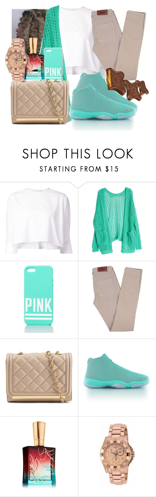 """""""Mood"""" by yasmeen4740 ❤ liked on Polyvore featuring Delpozo, Victoria's Secret PINK, Acne Studios, ALDO and Invicta"""