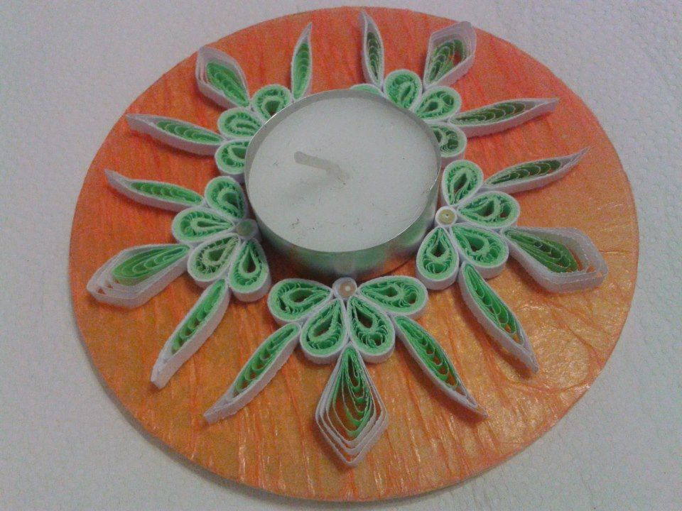 Lovely tealight, quilled and decorated - by: Erika Koch http://www.facebook.com/photo.php?fbid=573278516024412=o.314547665297699=1://sphotos-b.xx.fbcdn.net/hphotos-snc7/579491_573278516024412_921420109_n.jp