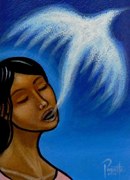 Aaron Paquette (Metis) Kokum's Song - Contemporary Canadian Native, Inuit & Aboriginal Art - Bearclaw Gallery
