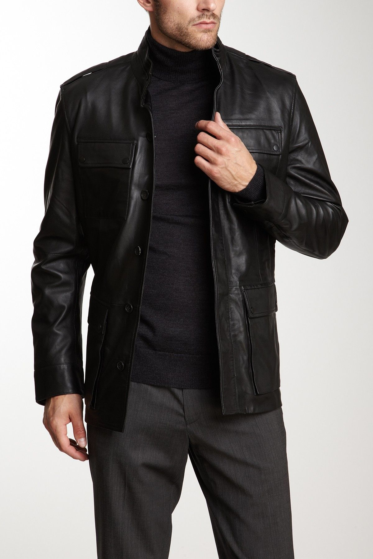 Elie Tahari Brooks Luxe Leather Jacket Leather Jacket Mens Outfits Masculine Clothing [ 1800 x 1200 Pixel ]