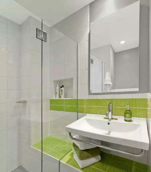 Pin By Decor De Saia On Banheiro Pequeno Pinterest - Lime green towels for small bathroom ideas
