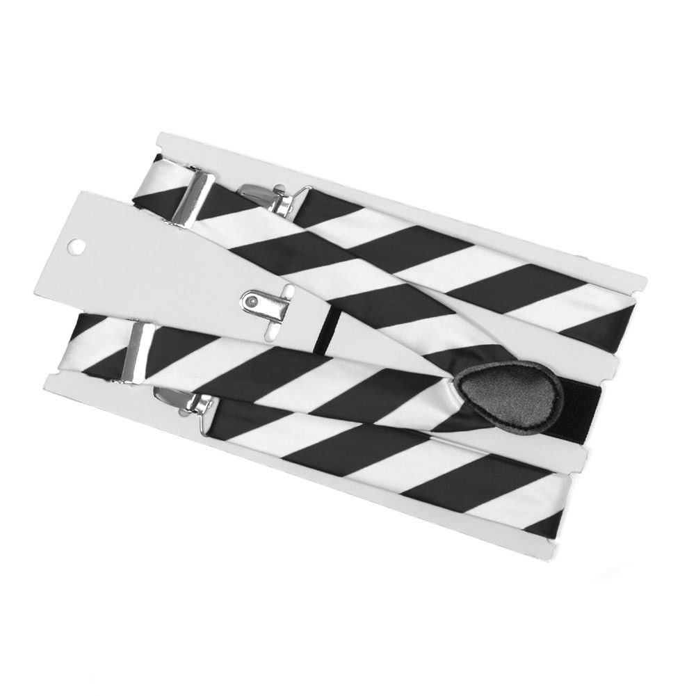 Black And White Striped Suspenders Black And White Wedding Theme White Wedding Theme Black And White
