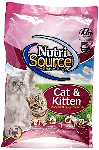 Nutrisource Chicken And Rice Formula Dry Cat Food With Images Dry Cat Food Kitten Food Cat Food