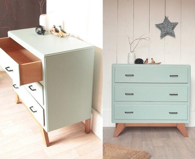 trendy little commode ann es 50 dix blue pi tement. Black Bedroom Furniture Sets. Home Design Ideas