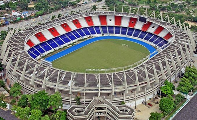 El estadio metropolitano de Barranquilla. Inaugurado en 1986, alberga los partidos de local del Junior y la Selección Colombia.