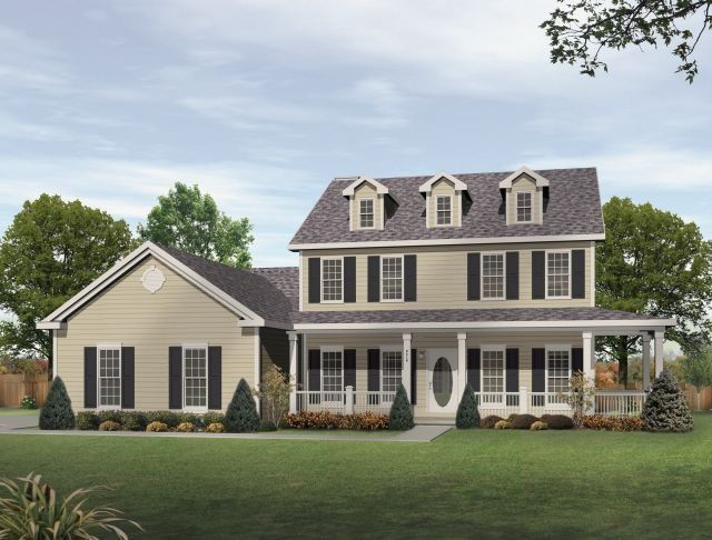 Story House Plans With Wrap Around Porch Exteriors