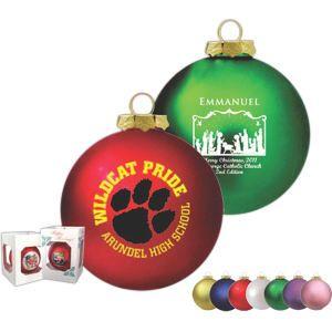 Traditional glass ornament with Custom Logo  Custom Christmas