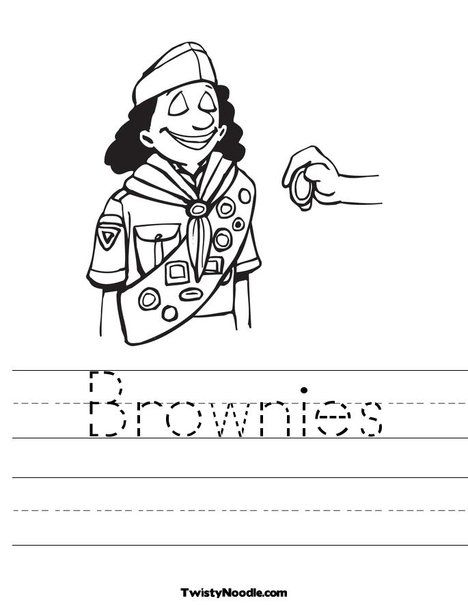 Brownie Worksheet from TwistyNoodle.com | Daisy girl ...