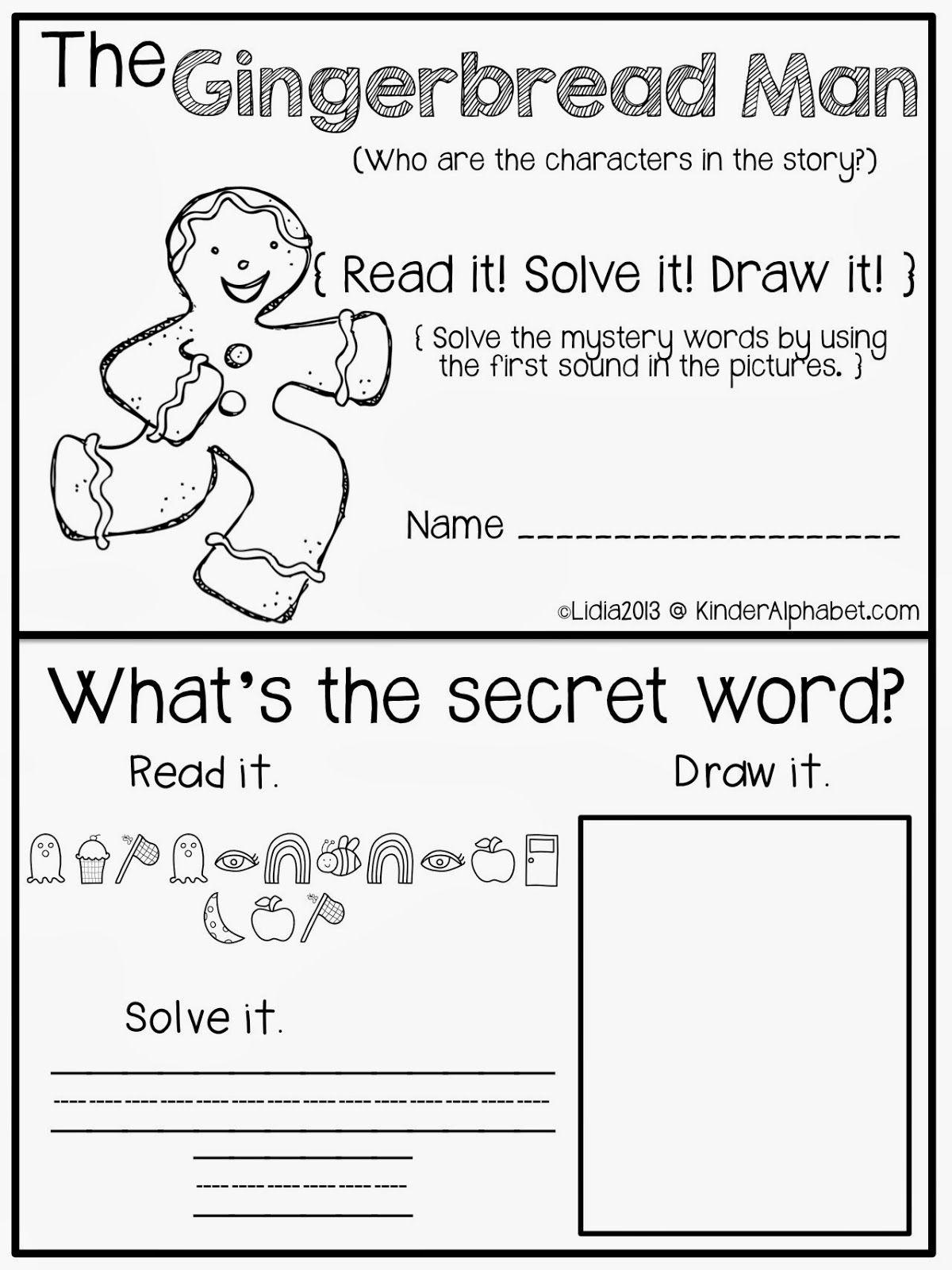 Kinder Alphabet Free Christmas Printables