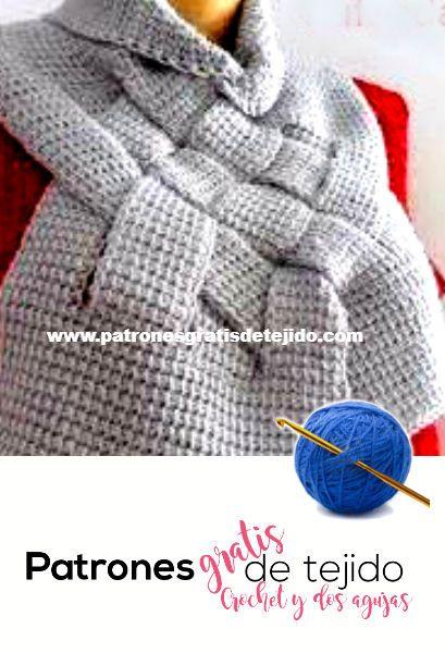Cómo tejer cuello abrigado tejido en crochet tunecino | צעיפים ...