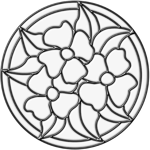 The Pansy Medallion Stained Glass Window Decal Is A Pretty Accent For Your Surface This Flower Applique Can Trans