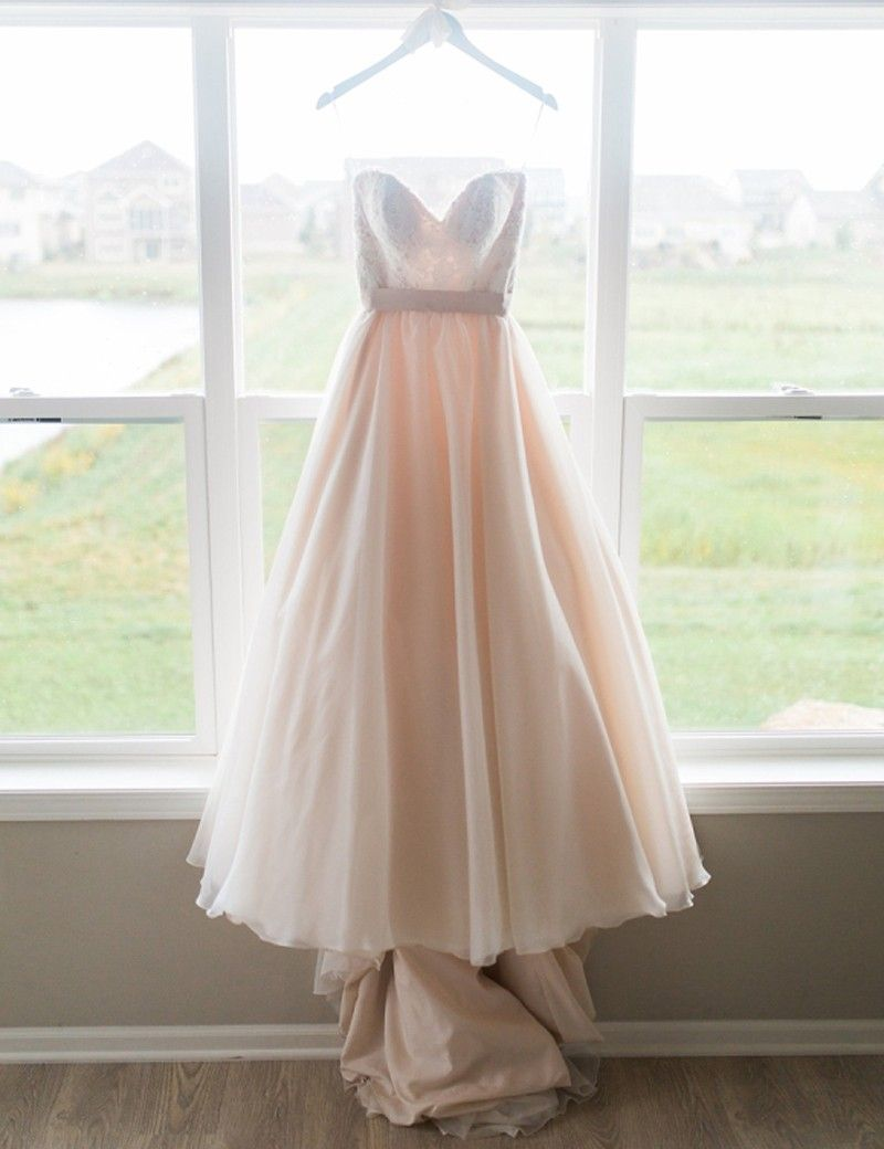 Sweetheart sleeveless highlow sash prom dress with lace prom