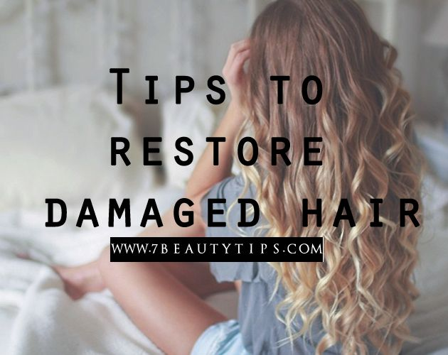 The external layer of your mane has some natural oils that not only add sheen to your tresses but also retain the moisture so as to protect them from damage. Here are some tips on how to restore dry/damaged hair at home.