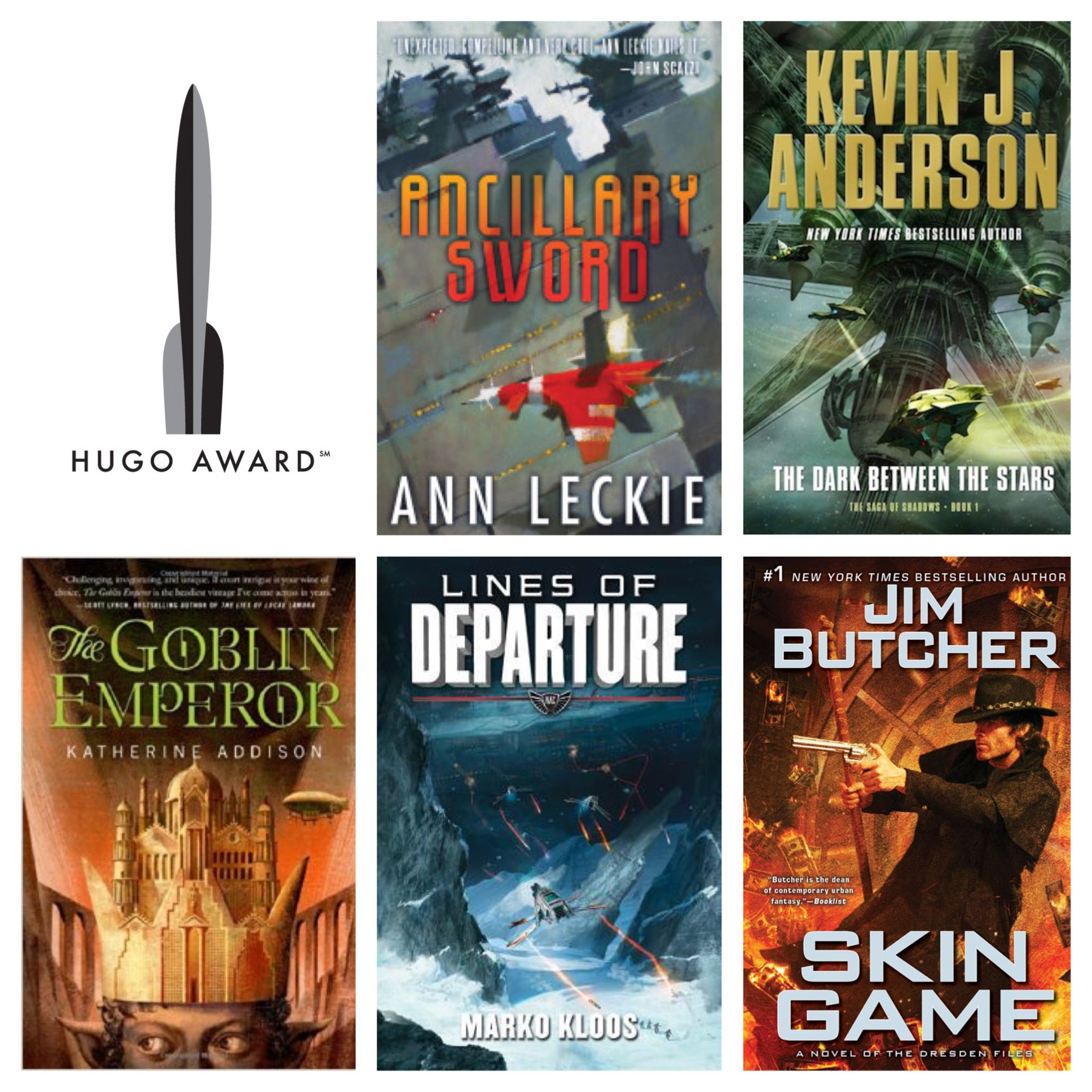 The 2015 Hugo Award nominees (finalists) for Best Novel