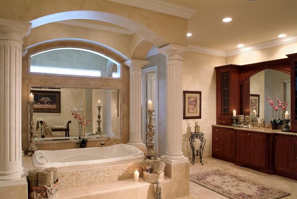 Spacious Master Bathroom with Jacuzzi Tub and Wrap Around Shower ...