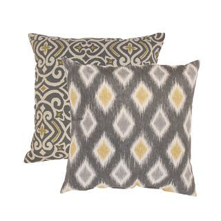 Pillow Perfect 'Damask' and 'Rodrigo' Square Throw Pillows (Set of 2) | Overstock.com Shopping - Great Deals on Pillow Perfect Throw Pillows