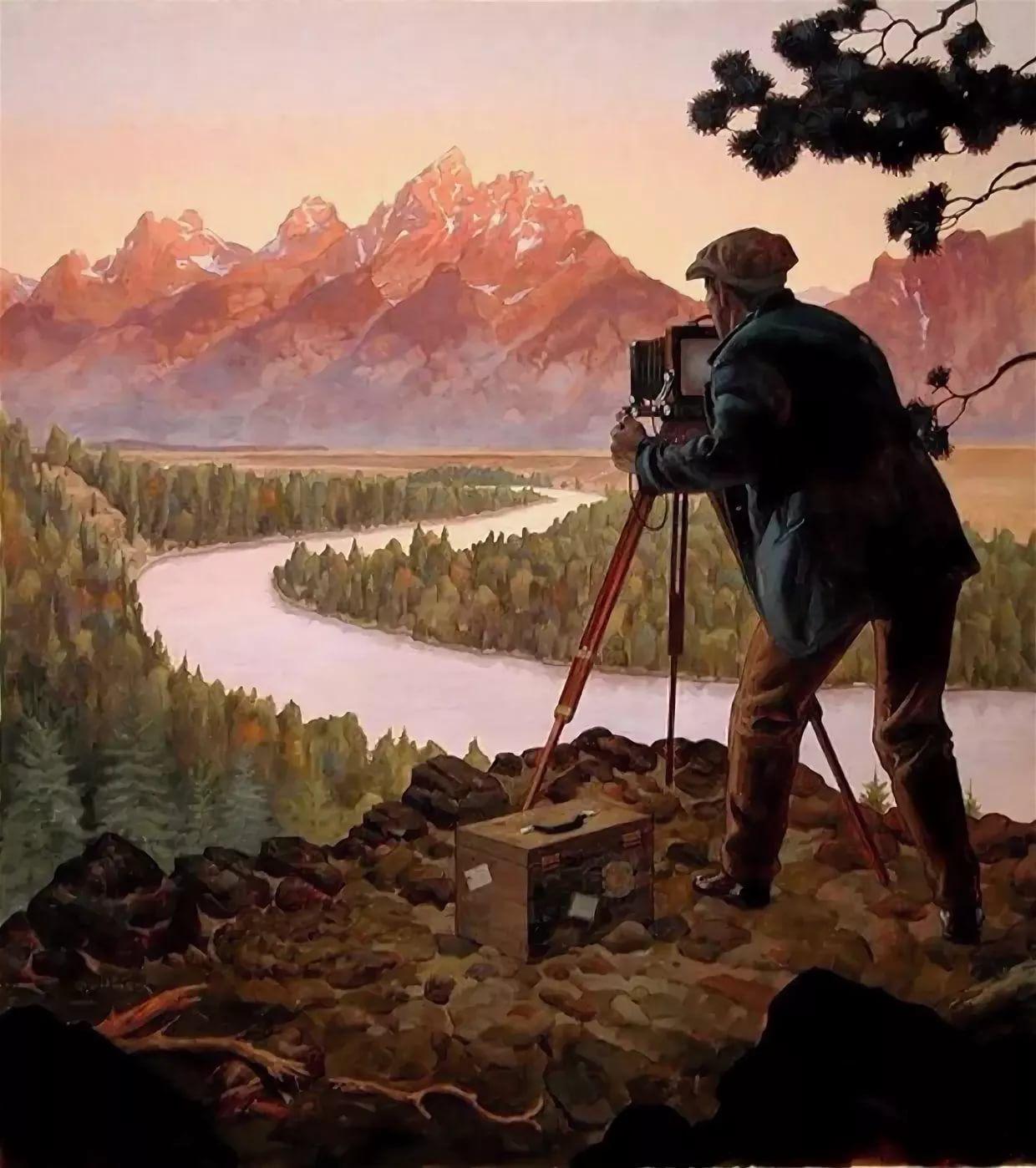 Фотограф в картинах художников