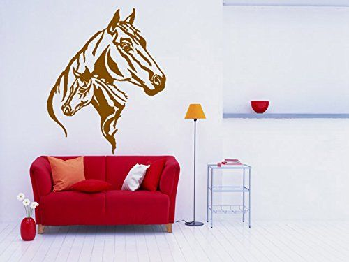 Wall Room Decor Art Vinyl Sticker Mural Decal Horse Head Wild Animal Ride Poster Mustang AS1188