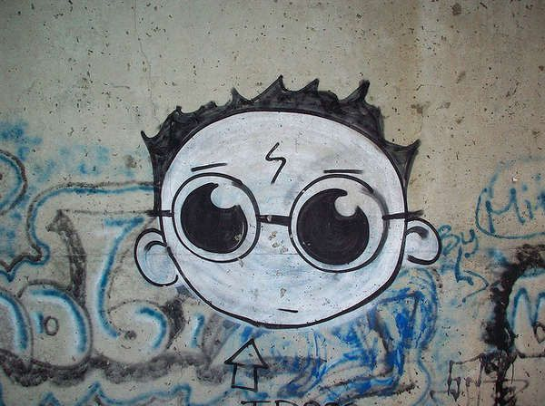 This Harry Potter street art is just as good as it sounds like it would be.