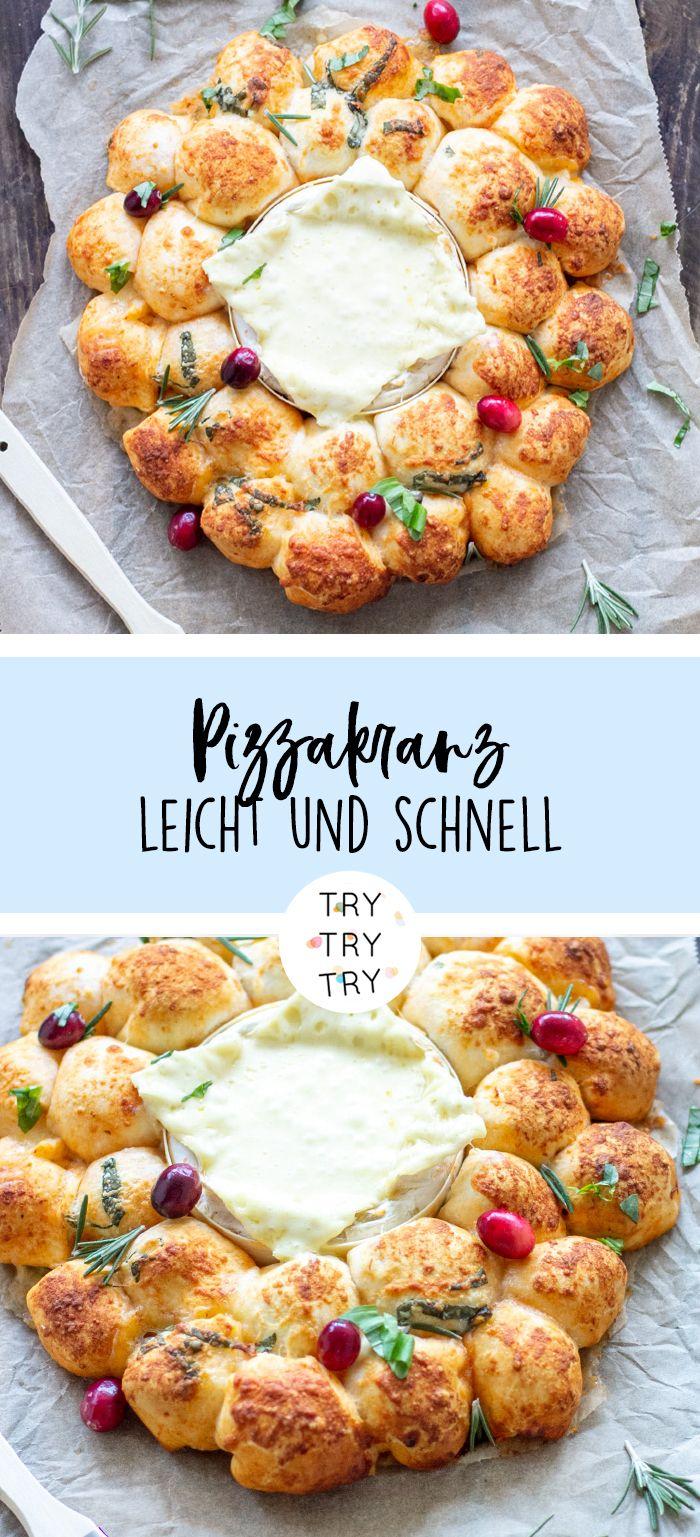 Pizzabrötchen-Käse-Kranz