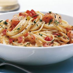 Photo of Pasta with tomato cream salmon