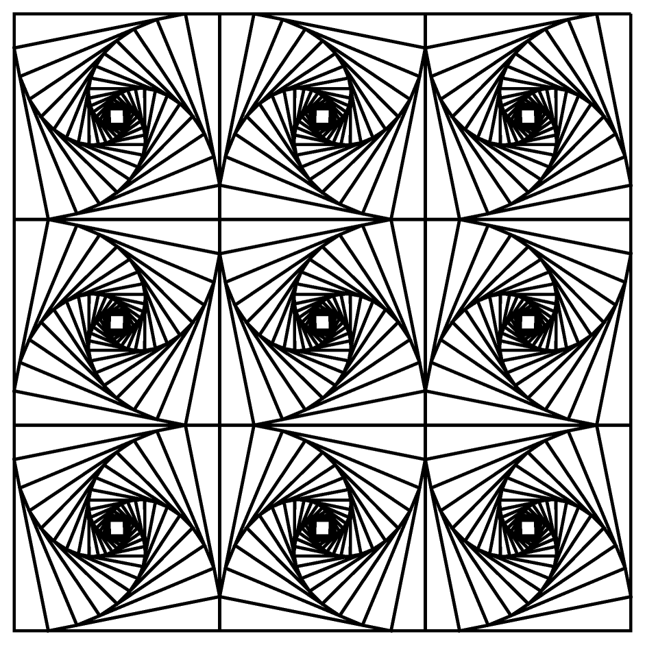 Funny Printable Optical Illusions Coloring Pages