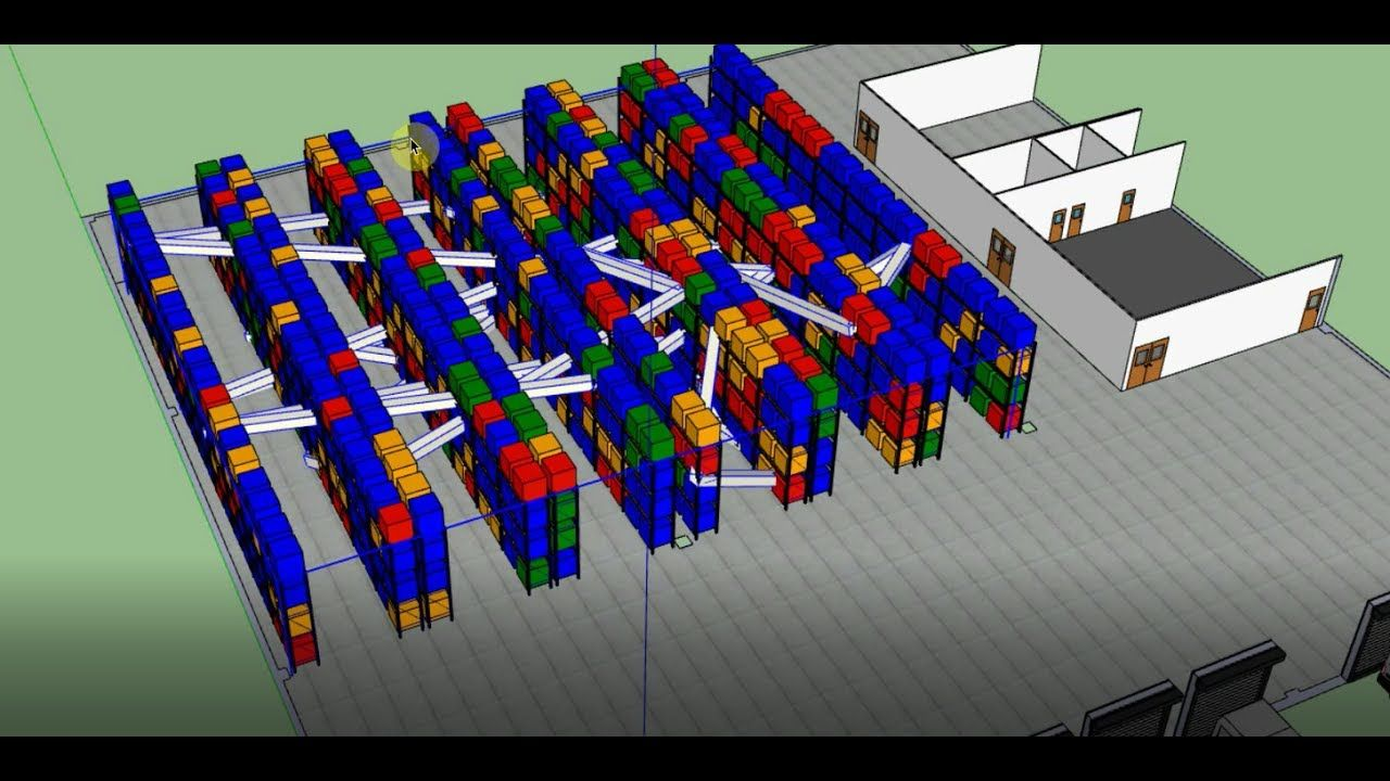 Creating a 3D warehouse heatmap with Sketchup and excel