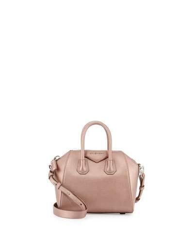 Antigona Mini Leather Satchel Bag, Light Pink