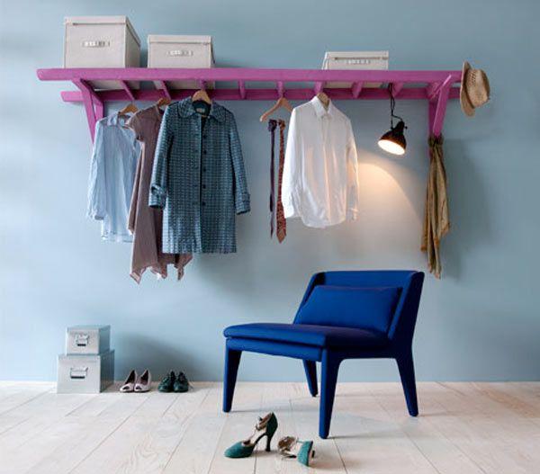 diy d tourner une chelle pour en faire un portant. Black Bedroom Furniture Sets. Home Design Ideas