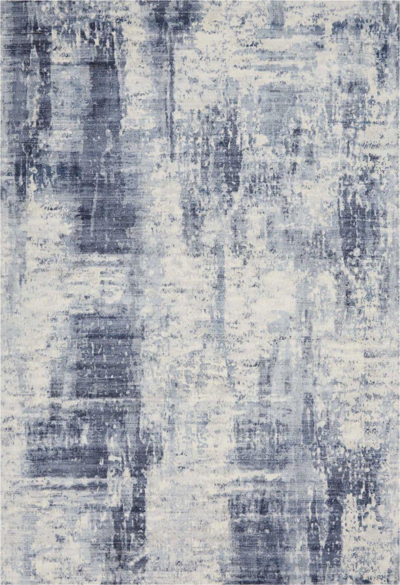 Nourison Safari Dreams Ki372 Blue Area Rug Textured Carpet Kathy Ireland Abstract