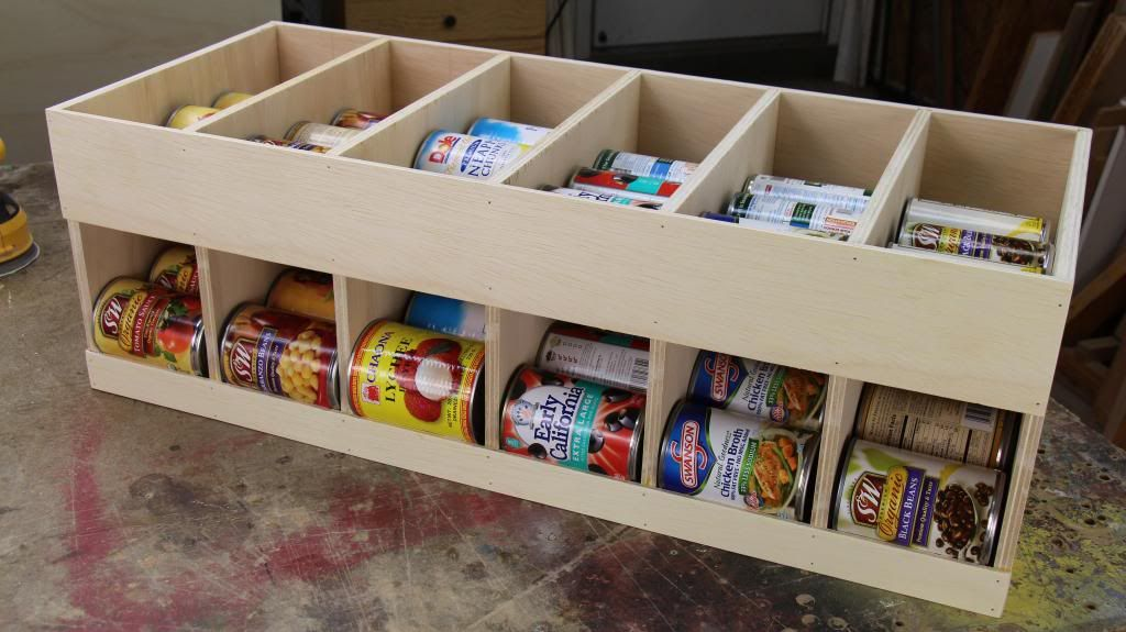 Woodworking Videos And Projects For Mere Mortals Get Organized Canned Goods Dispenser