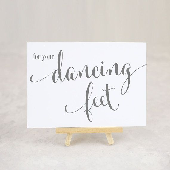 f9d440974 For Your Dancing Feet Sign Reception Signage Flip Flop by iDoTags ...