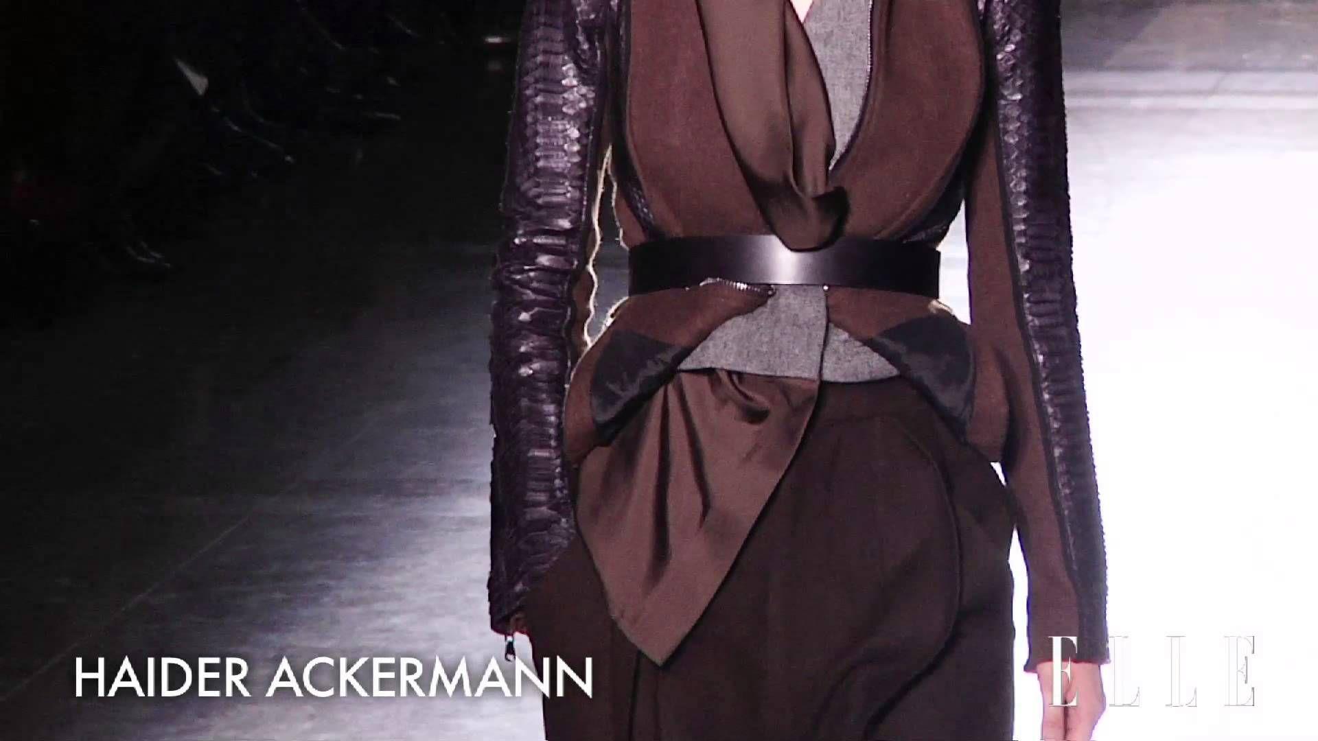 Défilé Haider Ackermann Automne-Hiver 2014-2015 #pfw https://www.youtube.com/watch?v=Ryf-Ikdxqig
