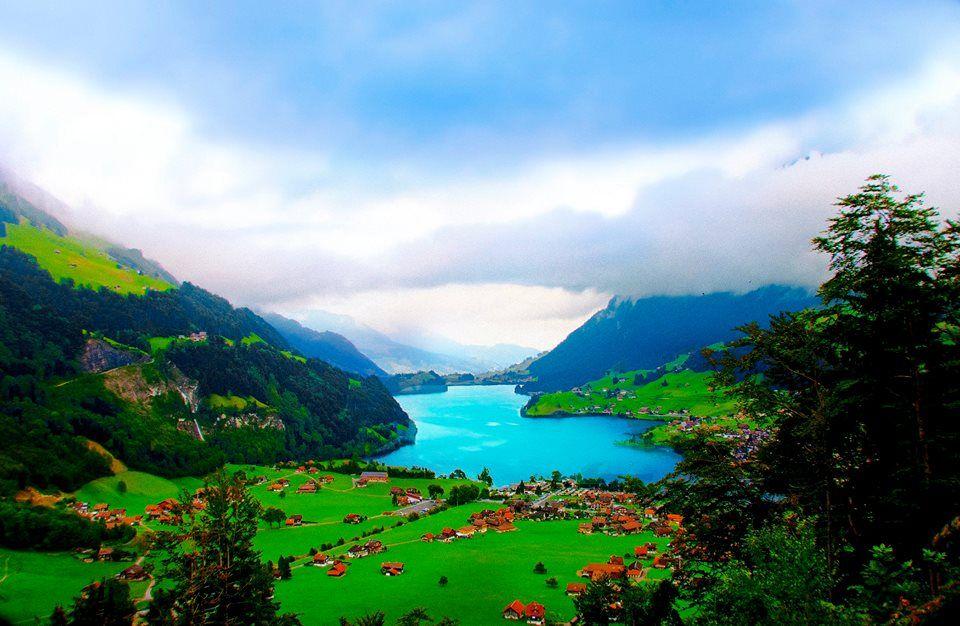 بحيرة لونجيرن السويسرية Outdoor Water River