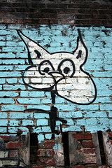 Black and White Cat Graffiti. Asheville, NC 2008. greensh/Flickr. all rights reserved