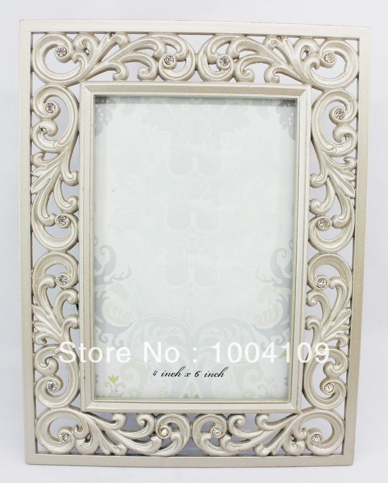 Wholesale metal alloy ornament jeweled vintage picture frames home ...