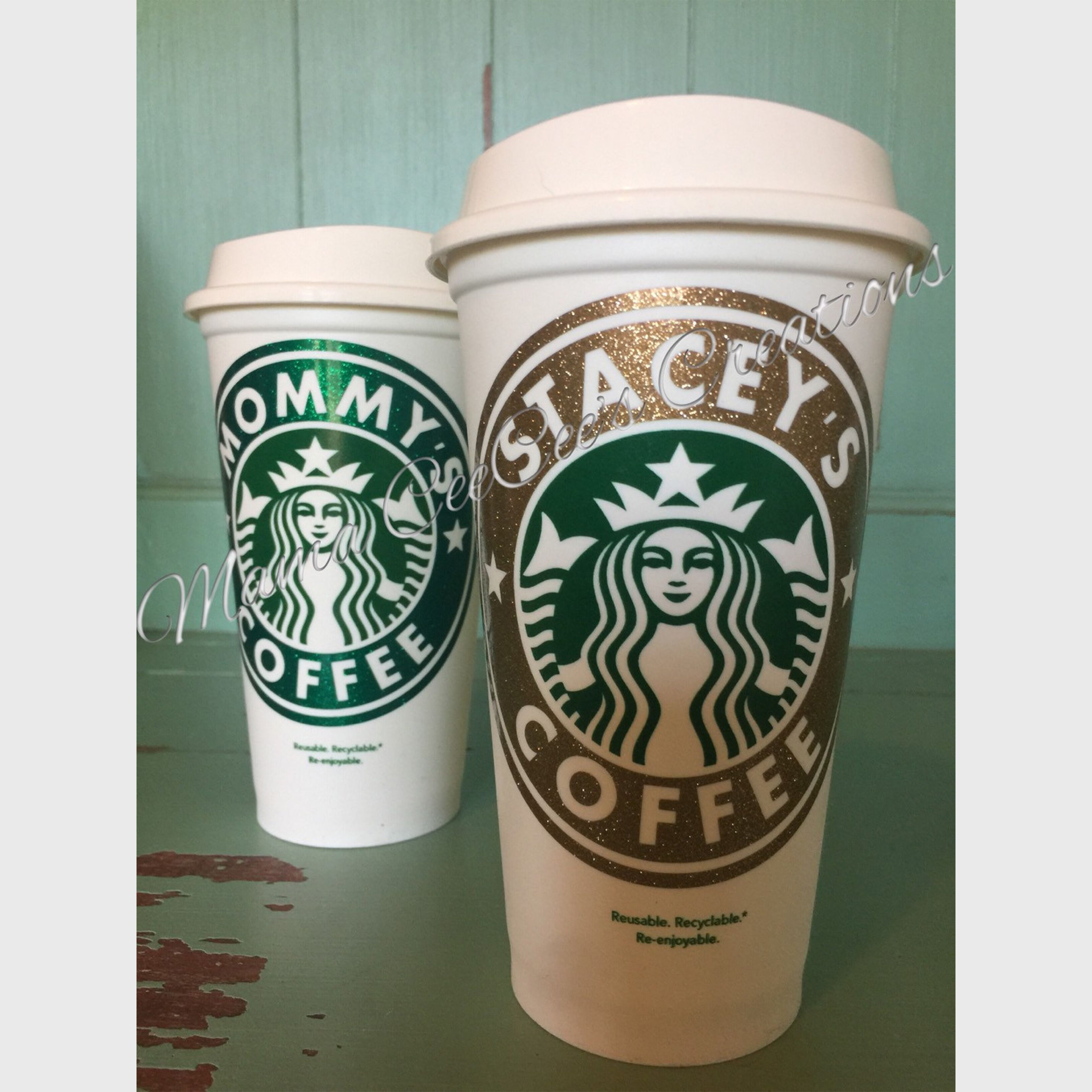 Personalized Starbucks Reusable Coffee Cup Personalized