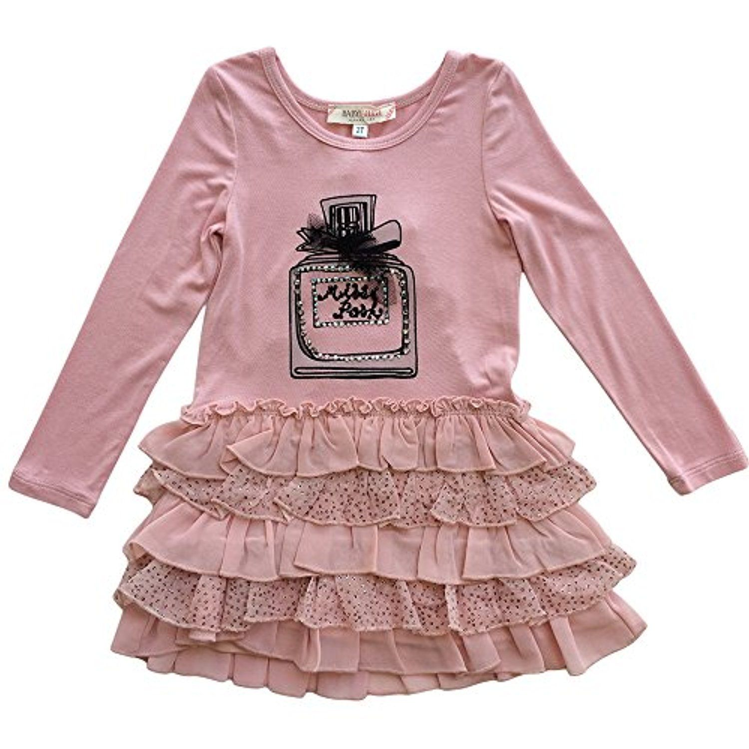 Baby Sara Girls Graphic Perfum Bottle Dress Pink Awesome products