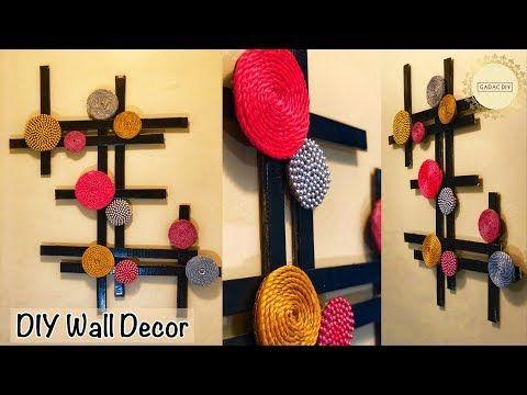 Youtube Very Unique Wall Hanging Gadac Diy Wall Hanging Ideas Wall Decor Diy Craft Ideas For Home Deco Wall Decor Crafts Diy Wall Decor Wall Hanging Crafts
