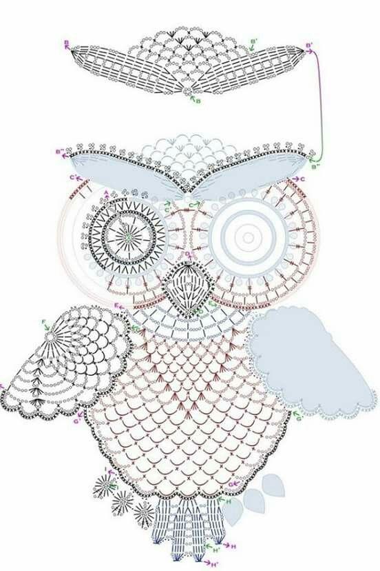 Búho para camiseta | ดอกบัว | Pinterest | Crochet, Yarns and Patterns