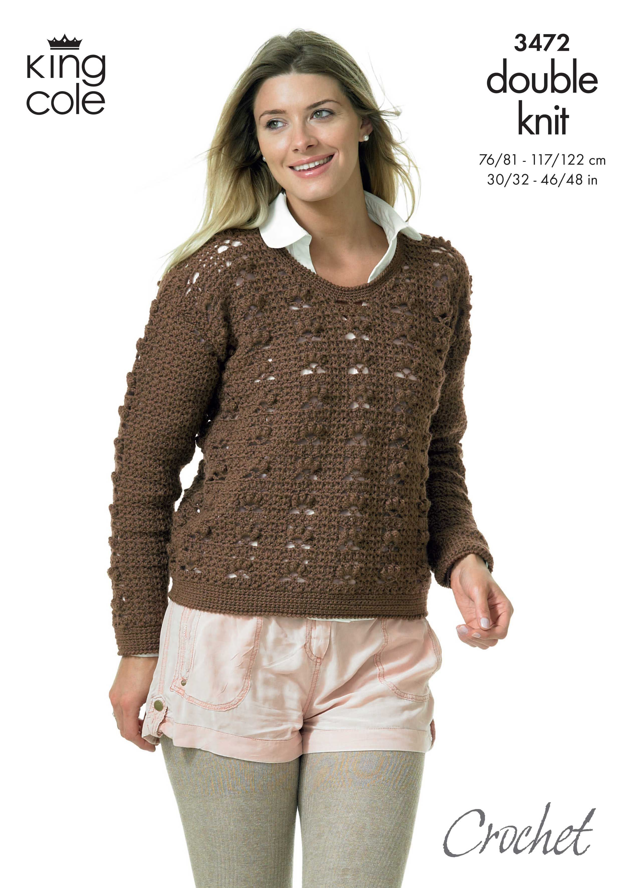 Crochet cropped Jumper - King Cole | crochet patterns to try ...