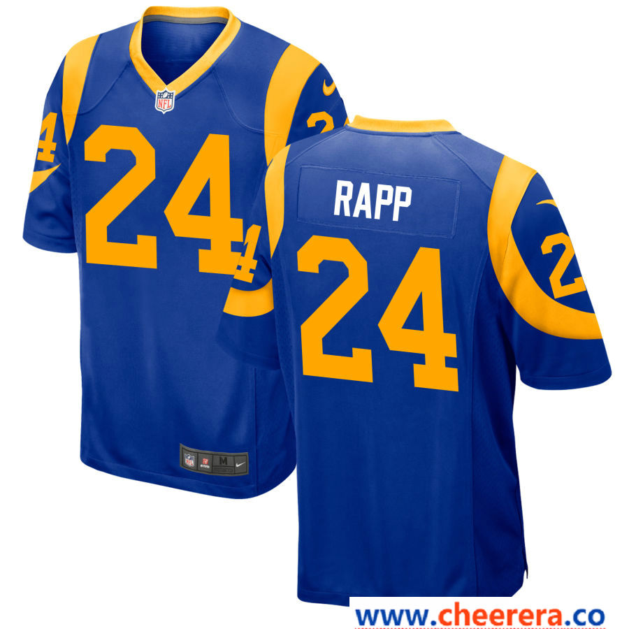 Men S Los Angeles Rams 24 Taylor Rapp Royal Blue Alternate Stitched Nfl Nike Game Jersey Nfl Los Angeles Amazing Shopping Jersey