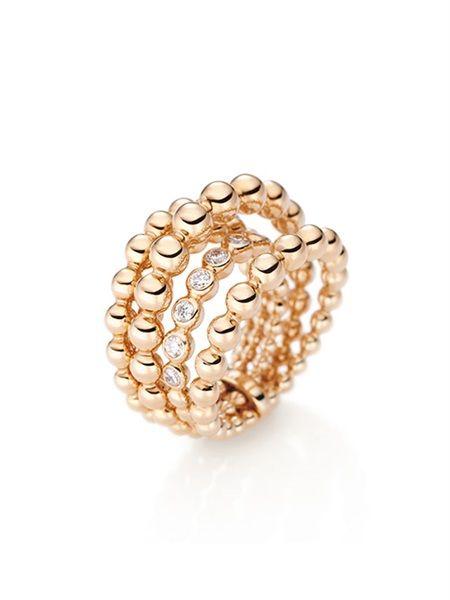 Wempe Ring Blu BY KIM 5-reihig | Breite Ringe | Pinterest | Eheringe ...